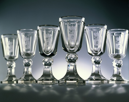 Cut Crystal Goblet with Engraved Coat of_Arms of Count Toerring