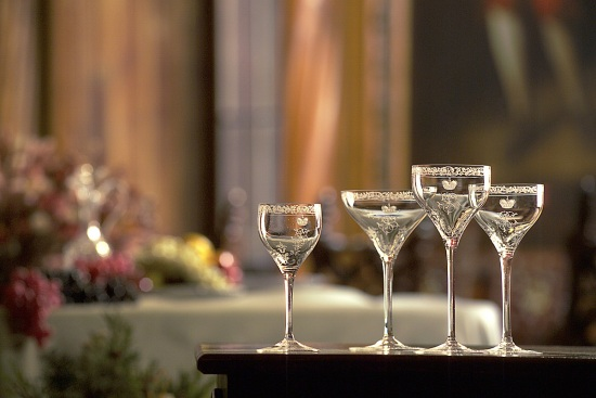 Cut Crystal Engraved_Set of Glasses with monogram