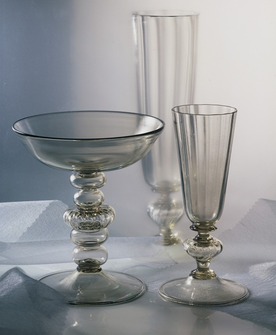 Venetian Style Set of Glasses and Tazza
