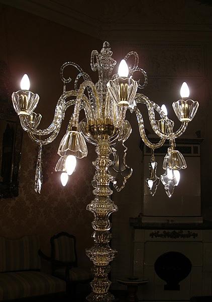 Bohemian cut crystal candelabra