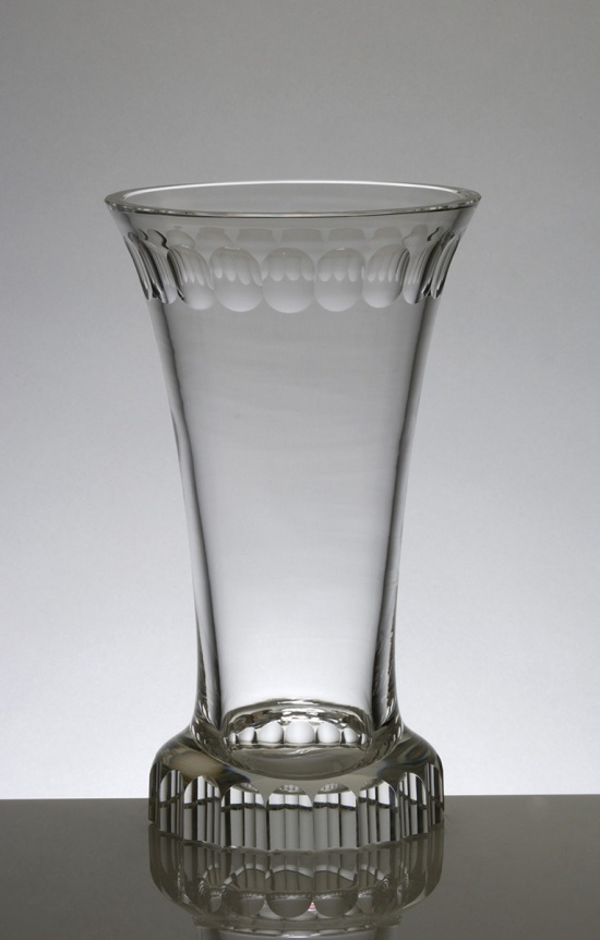 Vase, cut crystal