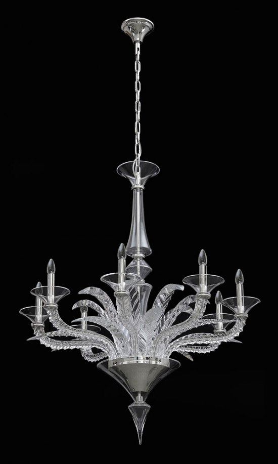 Leaves Cut Crystal Chandelier