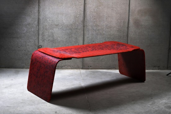 Red Desk Murrina by Marc Newson
