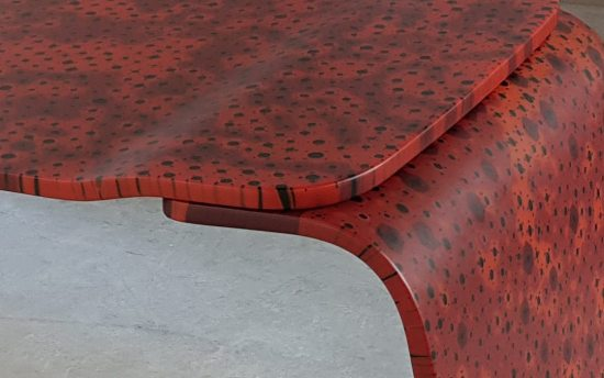 Red Desk by Marc Newson