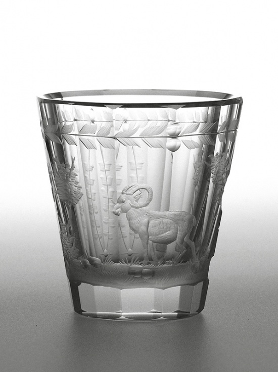 Engraved glass - mouflon