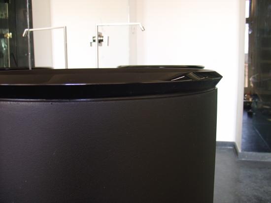 Mold melted glass bathroom basin height 100 cm