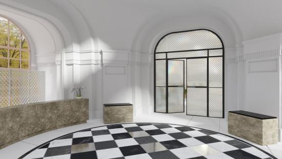 Lobby dveře - panely kára