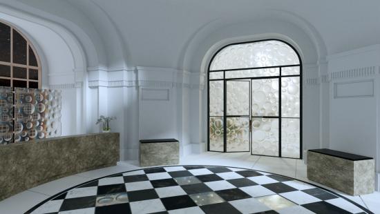 Lobby dveře - panely čočky