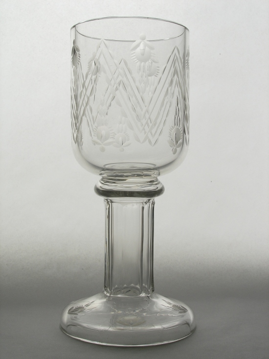 Goblet from the Glass Museum in Kamenicky Senov
