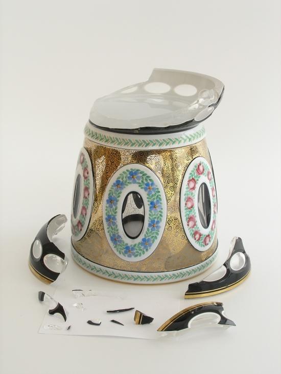 Vase from the Glass Making School in Kamenicky Senov