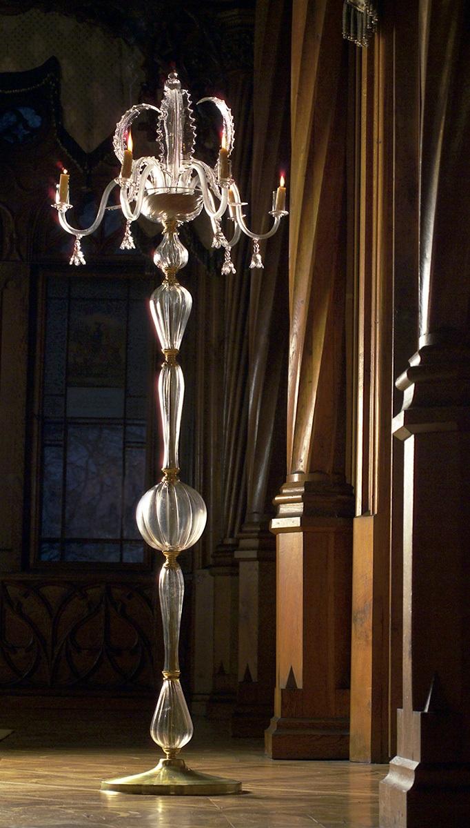 Hotshaped Venetian Style candelabra